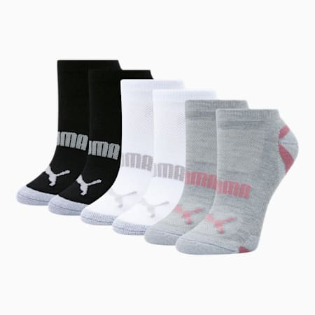 Women's Low Cut Socks [6 Pack], PINK / GREY, small